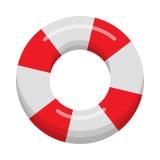 Lifebuoy изолировало на белой предпосылке Стоковое Изображение RF