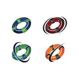 Lifebuoy, кольцо, личная охрана, помощь, вектор, безопасность Стоковое Изображение