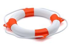 Lifebuoy на белой предпосылке Стоковые Изображения RF