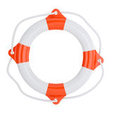 Lifebuoy на белой предпосылке Стоковые Фото
