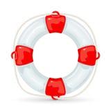 Lifebuoy на белой предпосылке Стоковое фото RF