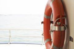 Lifebuoy на шлюпке Стоковая Фотография RF