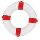 Lifebuoy. 3d render of red and white life belt isolated on white background Stock Photos
