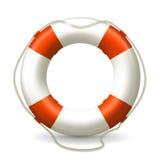Lifebuoy. Computer illustration, on the white Stock Image