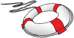 Lifebuoy. Subject to save drowning victims. Vector illustration Stock Photography