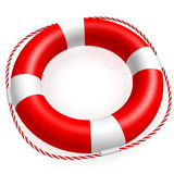 Lifebuoy. A ring buoy isolated on white background. Computer generated image with clipping path Royalty Free Stock Photography