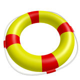 Lifebuoy. A ring buoy isolated on white background. Computer generated image with clipping path Stock Photo