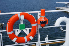 The lifebuoy. Ring on a vessel is in available seat Royalty Free Stock Images