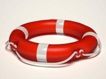 Lifebuoy. Isolated on white background Royalty Free Stock Photography