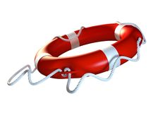 Lifebuoy. Lifeboy flying through air Royalty Free Stock Image
