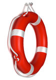 Lifebuoy. Hanging from a nail Stock Image