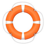 Lifebuoy. Isolated on white background. Clipping path available Royalty Free Stock Photos