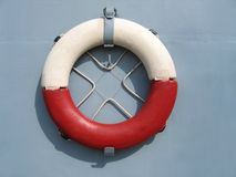 Lifebuoy. Red and white life guard ring Royalty Free Stock Image