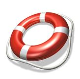 Lifebuoy. Rendered life preserver over white background Royalty Free Stock Photography