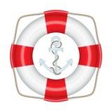 Lifebuoy, anchor Stock Image