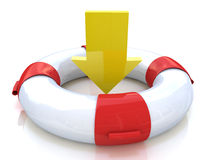 Lifebuoy and arrow Royalty Free Stock Images