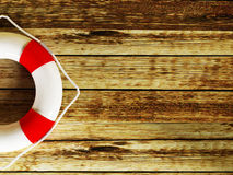 A lifebuoy on a  background Stock Images