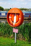 Lifebuoy in Barton marina. Stock Images
