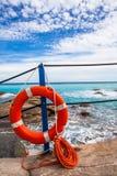 Lifebuoy at the beach Stock Image