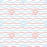 Lifebuoy, Bezszwowy wzór Zdjęcie Stock