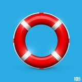 Lifebuoy on a blue background Stock Images