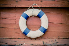 Lifebuoy blue stripes Royalty Free Stock Image