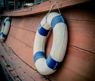 Lifebuoy blue stripes Stock Photo