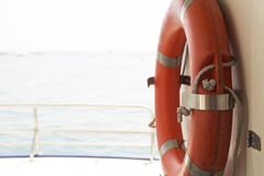 Lifebuoy on a boat Royalty Free Stock Photography