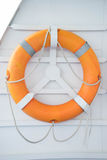 Lifebuoy on boat. For lifesaving Royalty Free Stock Image
