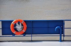 Lifebuoy on boat Royalty Free Stock Image