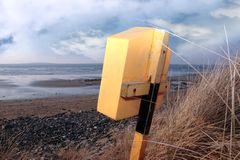 Lifebuoy box on beal beach in kerry Stock Photos