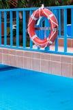 A lifebuoy on bridge Stock Images