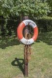 Lifebuoy at Cookham Lock Stock Image