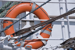 lifebuoy czerwień Zdjęcia Stock