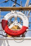 Lifebuoy on the Dar Pomorza Royalty Free Stock Photos