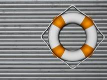 Lifebuoy dołączał kruszcowa ściana ilustracja wektor
