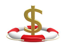 Lifebuoy with dollar sign Royalty Free Stock Photos