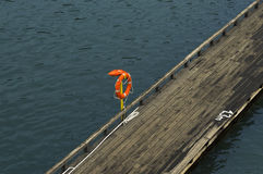 Lifebuoy, emergency aid. Safe rest on the water Stock Images