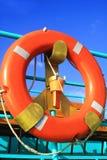 Lifebuoy en la nave Foto de archivo libre de regalías