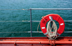 Lifebuoy et mer Image libre de droits