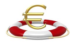 Lifebuoy with euro sign Stock Image