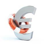 Lifebuoy euro symbol Stock Image