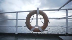 Lifebuoy ferry boat, ferry, travel, sea, lifebuoy, water, vacation, ship, life, ring. Lifebuoy ferry railing, emergency, equipment, circle, harbor orange stock video