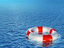 Lifebuoy, floating on sea Royalty Free Stock Photography