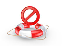 Lifebuoy and forbid symbol. Stock Photography