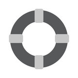 Lifebuoy - gray vector icon Royalty Free Stock Images