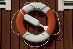 Lifebuoy haning on a house Stock Images