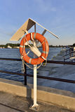 Lifebuoy on the harbor, Poland , Gdansk Royalty Free Stock Images