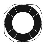 Lifebuoy icon in black style isolated on white background. Surfing symbol stock vector illustration. Stock Photography