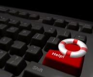 Lifebuoy icon on the internet keyboard Stock Image
